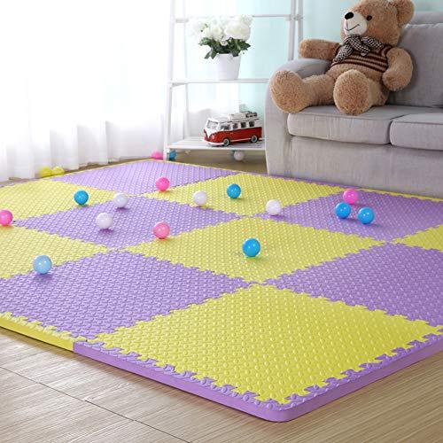HOMRanger Solid Color Interlocking CarpetLarge Puzzle Exercise Kids Foam Crawling Play Mat Puzzle Rug for Living Room Tiles C 606020cm9 Pcs