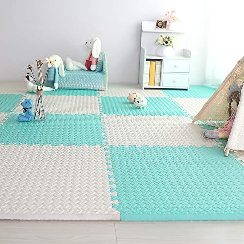 HOMRanger Solid Color Interlocking CarpetLarge Puzzle Exercise Kids Foam Crawling Play Mat Puzzle Rug for Living Room Tiles E 606025cm6 Pcs