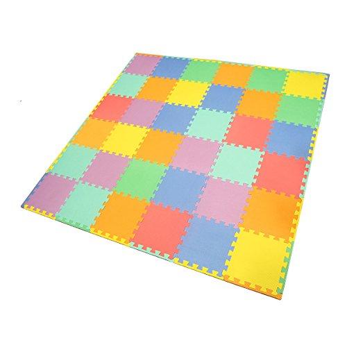 Smartots My First Rainbow Interlocking Crawling Play Mat 36-Piece