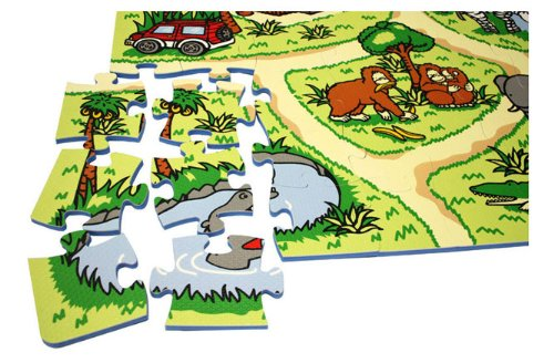 81 Piece Interactive Soft Foam Zoo Playmat