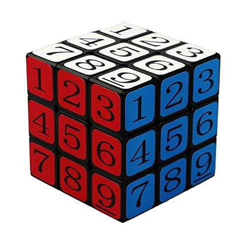 FormulaCubeTwist 3x3x3 Puzzle Speed Sudoku Number Magic Cube Educational Puzzle Toy - Black