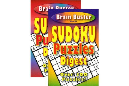 Brain Teasing Sudoku Puzzle Book Digest Size Pack of 3