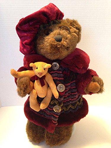 Dan Dee Christmas Teddy Bear Velvet Plush Holiday With Display Stand 15