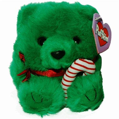 JIngles the Green Christmas Teddy Bear - Puffkins Bean Bag Plush