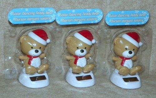 Solar Powered Dancing ~ CHRISTMAS TEDDY BEAR 3-Pack
