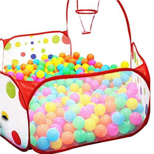 Lisingtool Pop up Hexagon Polka Dot Kids Ball Play Pool Tent Carry Tote Toy 50 Balls