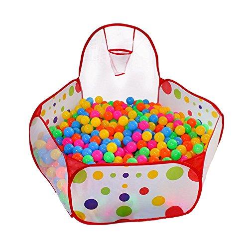 SAGUARO 09m Portable Kids Mini Basketball hoop Play Tent Playpen Ball Pool Easy Folding Play House Children Toy Play Tent Included 50pcs 7cm Diameter Soft Plastic Ocean Balls