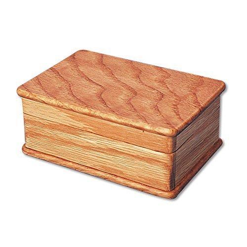 Bits and Pieces - Secret Sliding Box Brainteaser Puzzle - Wooden Puzzle Money Box - Lock Up Box - Box Measures 4-12 x 3 x 2