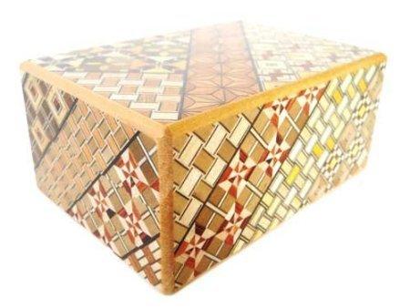 Yosegi Puzzle Box 4 sun 10 steps