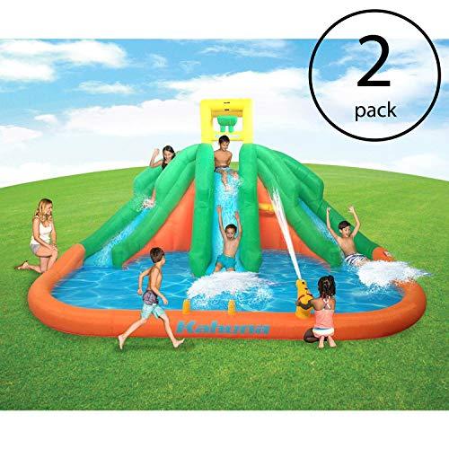 Kahuna Triple Monster Big Inflatable Backyard Slide Water Park wSlide 2 Pack