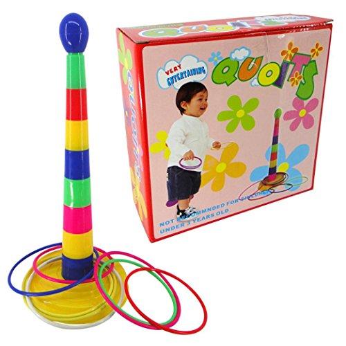 Bestpriceam Set of Plastic Ring Toss Quoit Hoopla Family IndoorOutdoorGarden Game Toy