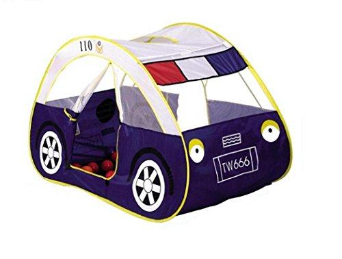 Kids Play Tent Children Cartoon Police Car Canopy Kids Adventure Station Best Gift Outdoor Garden Games House
