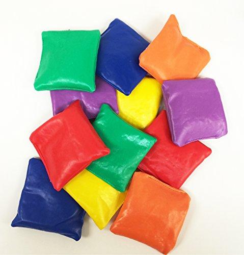 GIFTEXPRESS Heavy Nylon Reinforced Bean Bags 12 pcsEducationalToss GamesParachute GamesClassroom Supplies