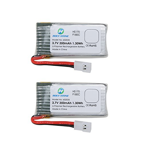 Holy Stone 2PCs of 37V 350mAh Lipo Battery for RC Quadcopter Holy Stone HS170HS170CF180WF180CHubsan X4 H107D H107L 2 pcs