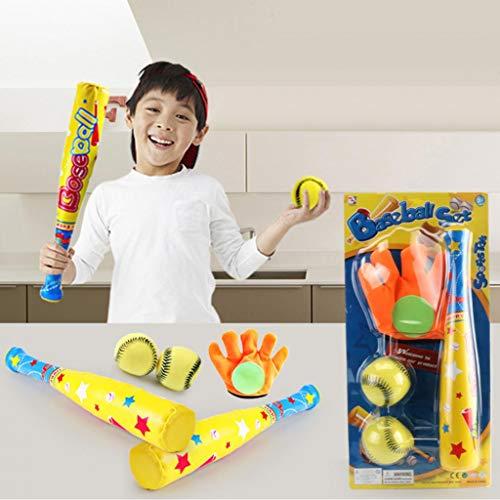 Kekailu Baseball Toy SetParent-Child Interaction Baseball Toy Set Outdoor Mini EVA Ball Catching Game