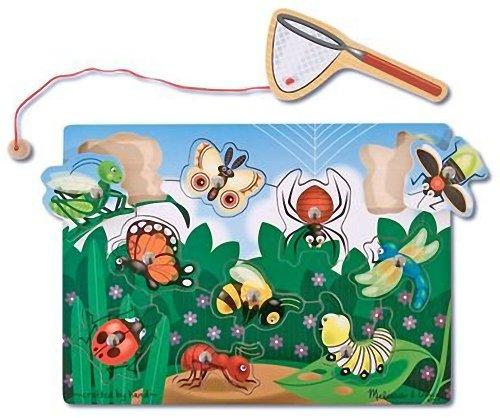 Melissa Doug Magnetic Bug Catching Game 1 Scratch Art Mini-Pad Bundle 03779