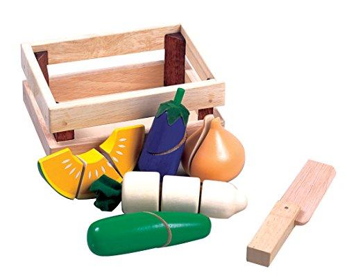 Santoys - Wooden Toys - Food Shop Role Play - Cut-through Vegetables