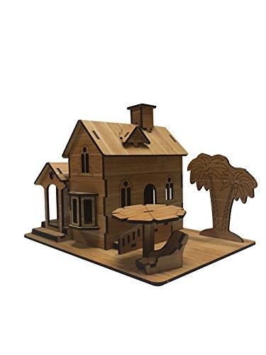 3D DIY Wooden Puzzle Puzzle Brain Teaser Toy for Children AdultSeaside Villa