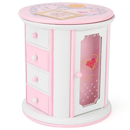 Joyibay Kids Music Jewelry Box 3 Layer Pullout Drawer Music Box for Girls