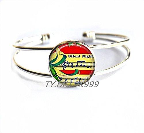 Yao0dianxku Sheet Music Bracelet - Sheet Music Jewelry - Musical Notes Bracelet - Musician Gift - Music Bracelet - Gift for Musician - Band BraceletY177 1