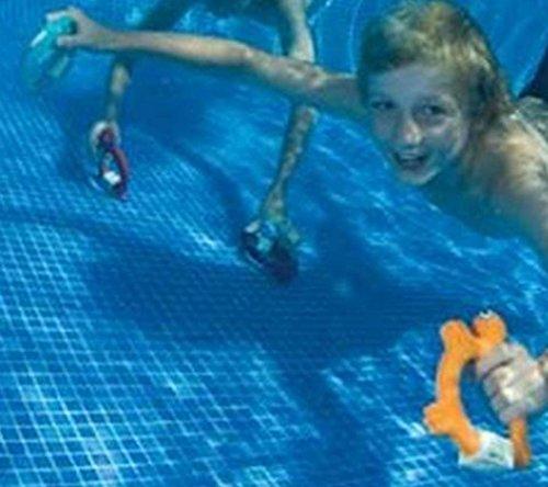 Kids Swimming Pool Toys Dive Games Aqua Fun Play Floating Animal Rings Set Of 4