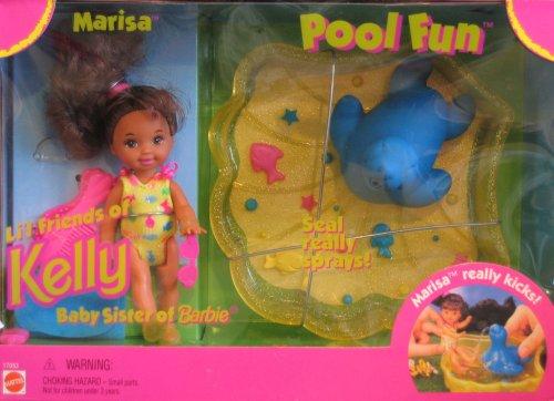 Barbie Kelly POOL FUN MARISA Doll Playset - Marisa Lil Friend of KELLY Doll 1996