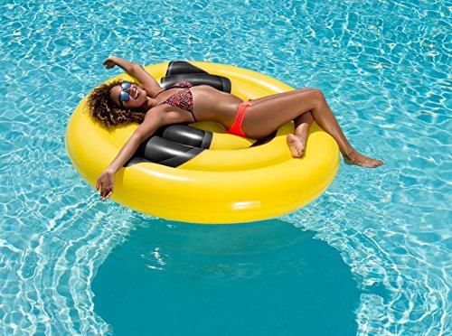 Kids Backyard Fun Play Intex Emoji Float Lounge Slide Inflatable Center Summer Outdoor Pool Fun Swimming
