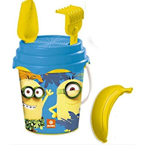 Minion Despicable Me Beach Sandpit Toy Bucket Set with Spade Rake Sieve