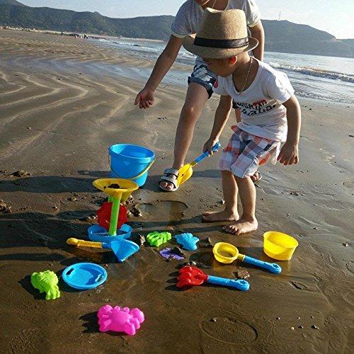 Sangdo Newly Beach Sand Water Toy Set Kids Outdoor Seaside Sandbox Bucket 14PCs Random