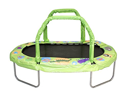 JumpKing Mini Oval Trampoline with Green Pad 38 x 66