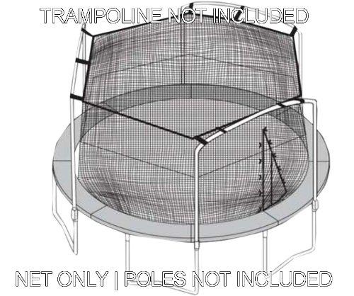Sportspower 15 Trampoline Net - 3 Arches with Straps