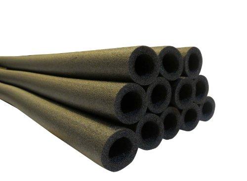 44 Inch Trampoline Pole Foam sleeves fits for 15 Diameter Pole - Set of 12 -Black