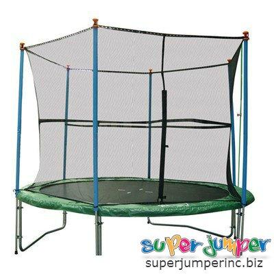 Super Jumper Poles for Trampoline 2-Piece White 14-Feet16-Feet