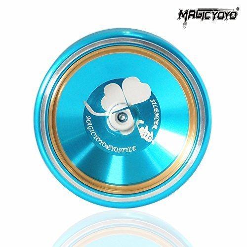 MAGICYOYO&Yostyle Silencer M001-B Yo-yo Ball Aluminum6061 Unresponsive Professional Yo-yo with Stainless Center Bearing and Stainless Axle M001B Blue