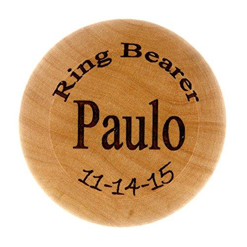 Wedding Party Ring Bearer Gift Monogrammed Personalized Classic Wooden Yo-Yo Wood Toy Yoyo