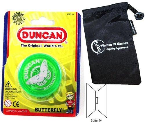 Duncan BUTTERFLY YoYo Green Beginners Entry-Level Yo Yo with Travel Bag Great YoYos For Kids and Adults by Duncan Yo-yos