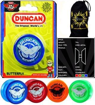 Duncan Butterfly Yo Yo - Classic Beginners String Yoyos and Travel Bag by Flames N Games Yo Yos