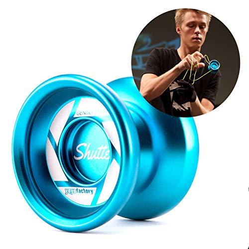 YoYoFactory Shutter Unresponsive Professional Metal Trick YoYo - Color  Aqua