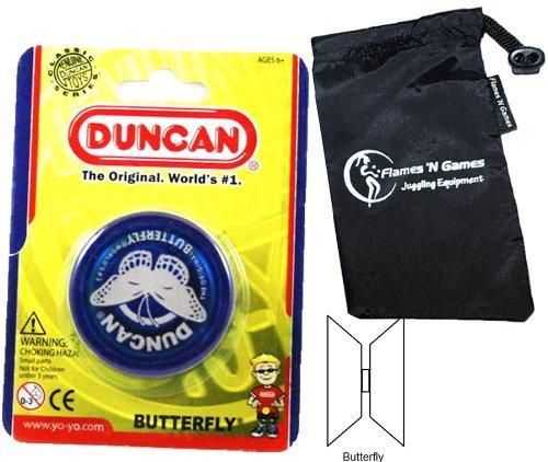 Duncan BUTTERFLY YoYo Blue Beginners Entry-Level Yo Yo with Travel Bag Great YoYos For Kids and Adults by Duncan Yo-yos