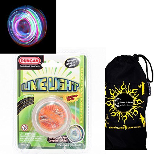 Duncan LIMELIGHT LED YoYo Red Professional Light-Up Bearing String Tricks Yo Yo  Travel Bag BATTERIES INCLUDED by Duncan Yo-yos