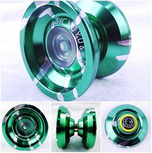 ATCG Magic YoYo 2014 the Latest New K9 Aluminum Alloy Yoyo Toys Green&Silver