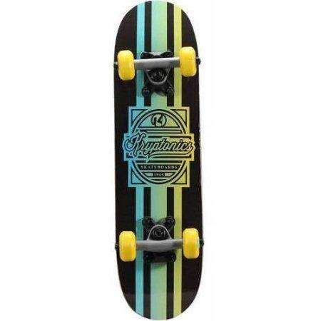 Kryptonics Locker Board Complete Skateboard 22 x 575  80ab Standard Grip Tape Aqua Fade
