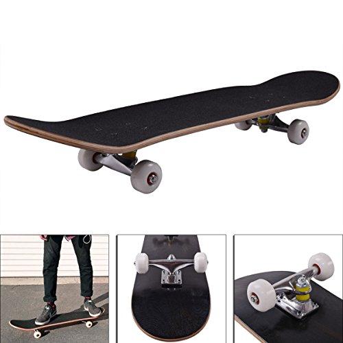 Standard Skateboards Complete Skateboard Stained BLACK 775 Skateboards Ready to ride skateboards for girls boys kids longboard decks revive complete New Black