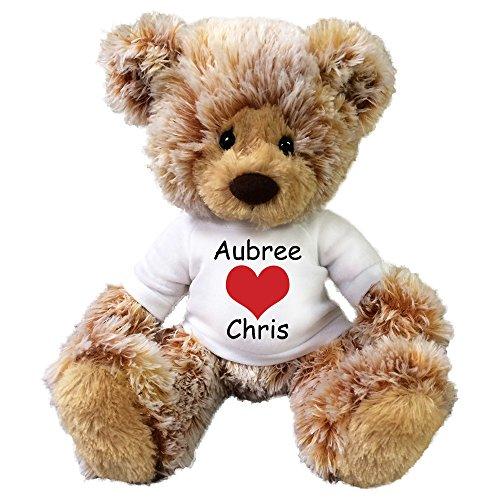 Personalized Valentine Teddy Bear - 14 Caramel Bear