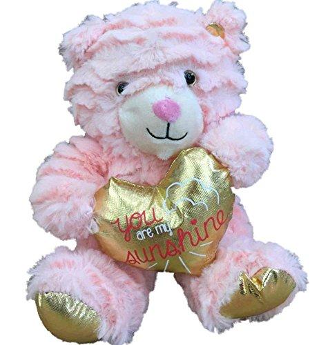 Animal Adventure 8 Plush You are My Sunshine Cuddly Teddy Bear - Pink