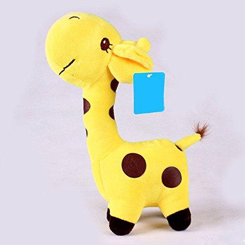 18x8cm Unisex Baby Kid Cute birthday Gift Plush yellow Giraffe Soft Toy Animal Dear Doll