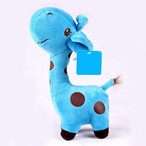 1x Unisex Baby Kid Cute birthday Gift Plush blue Giraffe Soft Toy Animal Dear Doll 38x18cm