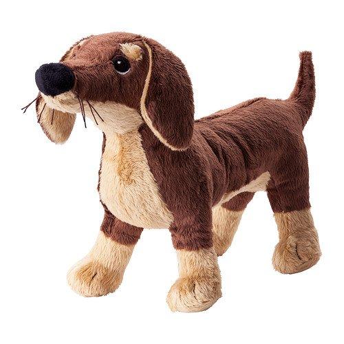 Ikea Stuffed Animal Dog Puppy Plush Soft Toy Brown Smaslug 80260447