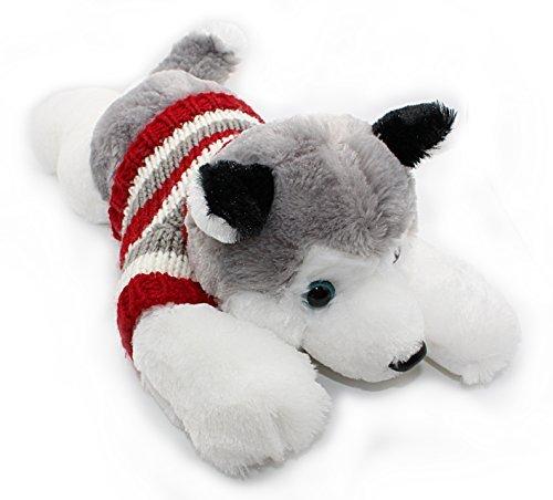 Soft Plush Toy Lying Siberian Husky Plush Puppy Stuffed Animals Dogs 14