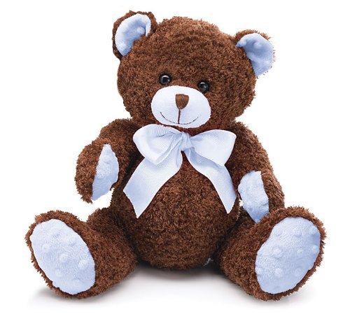 Blue Brown Plush Teddy Bear Adorable Stuffed Animal